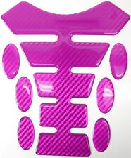 Pink Carbon Fibre 3D Resin Gel Tank Pad K1