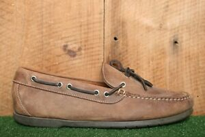 L.L. BEAN Cactus Brown Leather Handsewn Moccasin Camp Moc Boat Shoes Sz. 10.5 EE