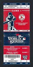 2013 MLB WORLD SERIES CARDINALS @ RED SOX FULL UNUSED BASEBALL TICKET GAME #1