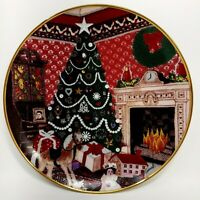 """8"""" Collector Plate """"O Christmas Tree"""" by Franklin Mint 1991 Limited Edition"""
