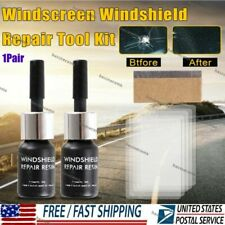 2Pcs/Set Car Windshield Repair Kit Automotive Glass Nano Repair Fluid Windshield