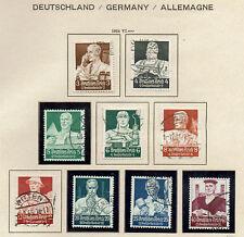 """GERMAN EMPIRE / Deutsches Reich 1934 #556-564 xfu  """"BERUFSSTÄNDE"""" E443b"""