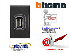 CARICATORE PRESA USB HS4285C1 ANTRACITE BTICINO AXOLUTE HS4285C 1