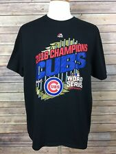 Majestic Men's T-Shirt 2016 Champions  Cubs World Series Graphic Size XL, A9