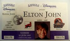 ELTON JOHN USED CONCERT TICKET / BILLET / PLACE PELOUSE - 1995 DISNEYLAND PARIS