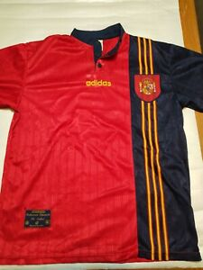 Spain National Team Adidas Jersey UEFA Euro 1996 Size L