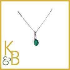Emerald Chain White Gold Fine Necklaces & Pendants