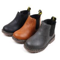Cute Children Fashion Boys Girls Martin Zip Sneaker Boots Kids Baby Casual Shoes