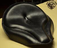 Bobber Sitz Oldtime Schwarz XL Seat Solo Harley Softail Custom Chopper