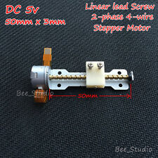 DC 5v 2 phase 4-wire Mini Stepper Motor linear lead screw shaft nut slider Stage