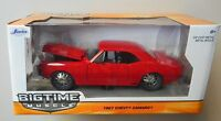 1:24 RED w BLACK 1967 CHEVY CAMARO JADA BIGTIME MUSCLE DIECAST CAR NEW IN BOX