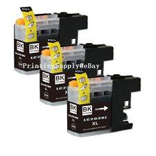 3PK Hi-Yield BK Ink W/ New Chip For Brother LC203 XL MFC-J4320DW J4420DW J4620DW