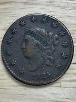 1825 Philadelphia Mint Copper Coronet Head Large Cent, 2/10/21, Free Shipping