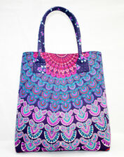 New Large Mandala Fashion Shoulder Bag Screen Printed Women Tote Shopping Bags