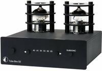 Pro-Ject Tube Box S2 Black Tube Phono Preamplifier