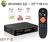 GTmedia 4K Android Box TV Receptor Terrestre DVB-T/T2 GTT-2 Smart Box Youtube