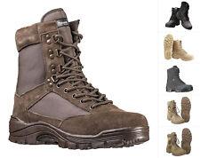 Mil-Tec Tactical Stiefel mit YKK Reißverschluss Schuhe Lederstiefel Boots 38-48