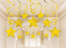 30 x decorazioni in oro stella cadente Appeso Turbinii da appendere oro decorazione festa