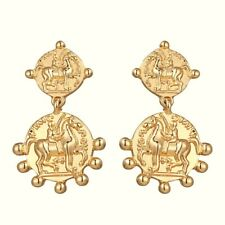 Gold Roman Orb Coin Drop Earrings Mango Other Bloggers Stories Trend Brand New