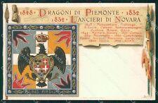 Militari V Reggimento Lancieri di Novara Dragoni Piemonte cartolina XF2111