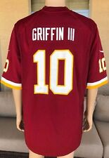 Robert Griffin III RG3 Washington Redskins Jersey Nike NFL Players Size XL #10