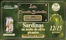 Pikante Sardinen in Olivenöl, RR 125, Hand verarbeitet und verpackt, 24 Dosen