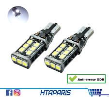 2 ampoules T15 W16W  - CANBUS ANTI ERREUR ODB - BLANC WHITE XENON 15 smd LED 12V