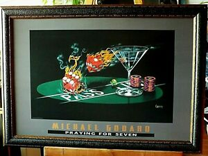 "36x27 /""Key To Wine /"" by Michael Godard Framed wall Art"