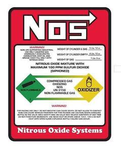 1 LB NOS NITROUS OXIDE BOTTLE LABEL STICKER DECAL THE BEST QUALITY