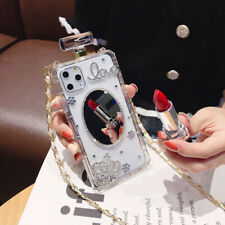 Diamond Perfume Bottle Mirror Case Crossbody Chain For iPhone11 Pro Max XS XR 78