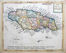 More details for jamaica  by joseph de laporte  c1786  scarce genuine antique engraved map