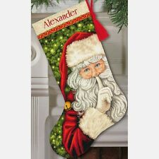Counted Cross Stitch Kit  SECRET SANTA Stocking Dimensions Gold Collection