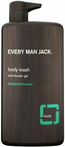 Body Wash and Shower Gel by Every Man Jack, 33.8 oz 1 pack Eucalyptus Mint
