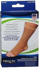 Sportaid Ankle Brace, Nylon Two-Way Stretch, Beige color, Size: Large - 1 ea
