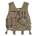 Heavy Duty Military Assault Cross Draw MOLLE Tactical Vest GENUINE MULTICAM Camo