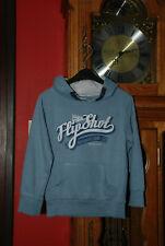 Sweat Pull à capuche bleu jeans Taille 116cm ou 5/6ans Très Bon Etat!
