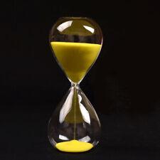 Grosse Mode gelb Sand Glas Sanduhr Hourglass Timer klar glatte Glas Massnah X2T4