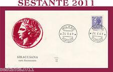 ITALIA FDC ALA 201 SIRACUSANA CARTA FLUORESCENTE 1969  ANNULLO  MILANO G187