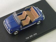 SPARK S1496 - FIAT 500 JOLLY 1962 BLEU FONCE  -  1/43