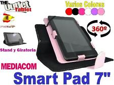 "FUNDA PARA TABLET MEDIACOM SMART PAD 7"" GIRATORIA FUNCION STAND"