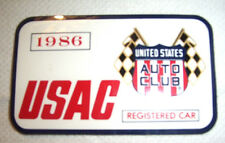 1986 Indianapolis Motor Speedway USAC Registered Decal / Vintage Racing Indy 500