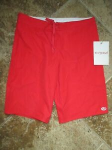 NEW RIP CURL Size 3 BIKINI SWIMSUIT Cover Up Shorts Boardshort $38 Solid Red