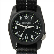 Bertucci DX3 Field Watch, 40mm Black Resin Case, Black Nylon Band #11043