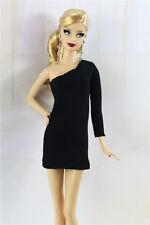 & fait main style vintage petite robe noire / outfit pour poupée Barbie Silkstone h06u