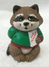 "Hallmark 1991 Merry Mini Christmas - Raccoon With Gift ""For Teacher"" - #Qfm180-7"