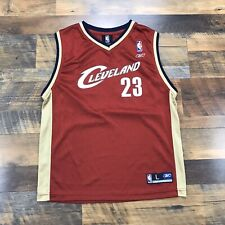 Cavs NBA Cleveland Cavaliers Red Lebron James Vintage Jersey Youth Boys Large