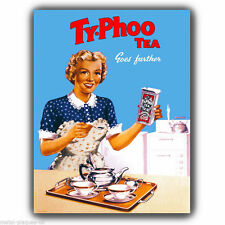 METAL SIGN WALL PLAQUE Typhoo Tea Vintage Retro poster art print kitsch picture