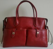 Dooney and Bourke red florentine leather large satchel