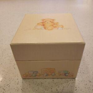 HALLMARK CARDS Vintage 1984 BABY PHOTOS STORAGE BOX - TEDDY BEARS -
