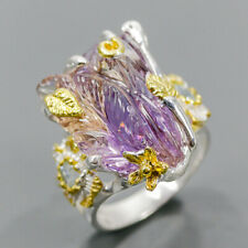 Carving gemstone ring Ametrine Ring Silver 925 Sterling  Size 7.5 /R176510